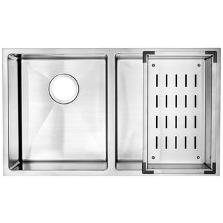30-Inch Double-bowl Stainless Steel Undermount Kitchen Sink