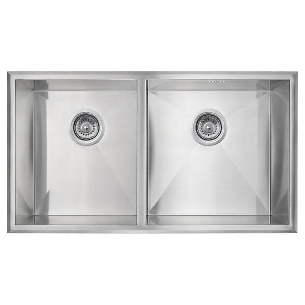 Golden Vantage Stainless Steel 32-Inch Double Bowl Undermount Kitchen Sink 14338333
