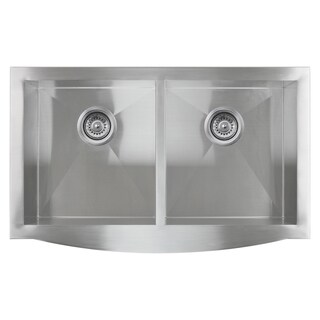 Golden Vantage Stainless Steel 33-inch Double Bowl Apron Undermount Kitchen Sink
