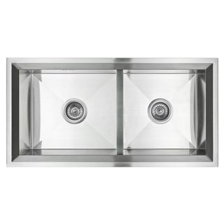Golden Vantage Stainless Steel 34-inch Double Bowl Undermount Kitchen Sink