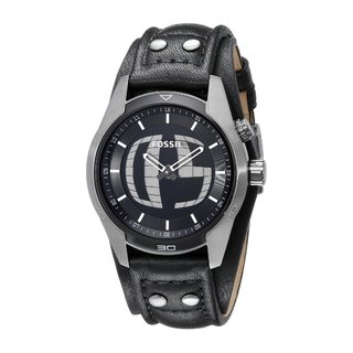 Fossil Men's JR1472 Coachman Black Strap Watch