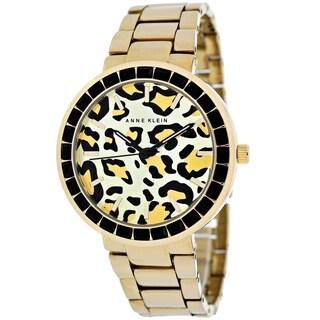 Anne Klein Women's AK-1694LEGB Classic Round Goldtone Bracelet Watch