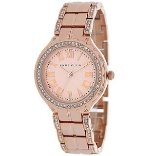 Anne Klein Women's AK-1506RGRG Classic Round Rosetone Bracelet Watch