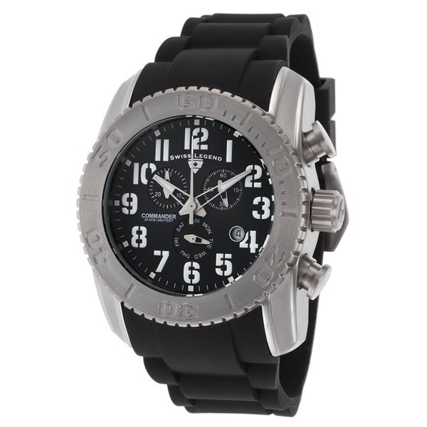 Swiss Legend Men's SL-11876-TI-01 Commander Titanium Black Chronograph Watch