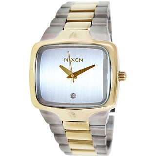 Nixon Men's Player A1401431 Two-Tone Stainless-Steel Quartz Watch with Silver Dial