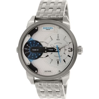 Diesel Men's Mini Daddy DZ7305 Silver Stainless-Steel Analog quartz Watch with Silver Dial