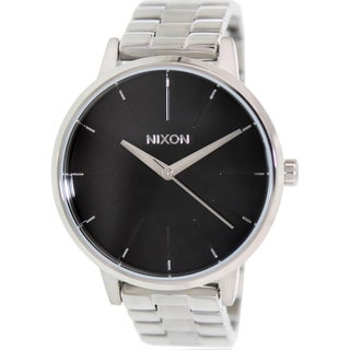Nixon Men's Kensington A099000 Silver Stainless-Steel Quartz Watch with Black Dial