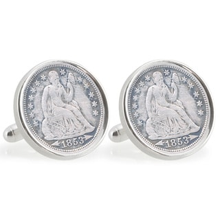 American Coin Treasures Universtiy of Florida 1853 Sterling Silver Dime Cuff Links