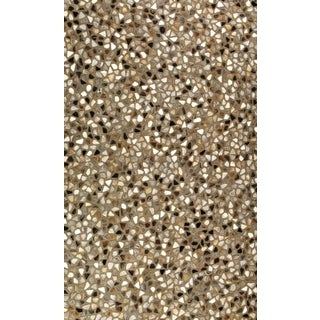 Hair On Hide Multi Color Mosaic Pattern Area Rug (5' x 8')