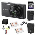 Sony DSC-W830 Black 20.1MP Digital Camera Bundle