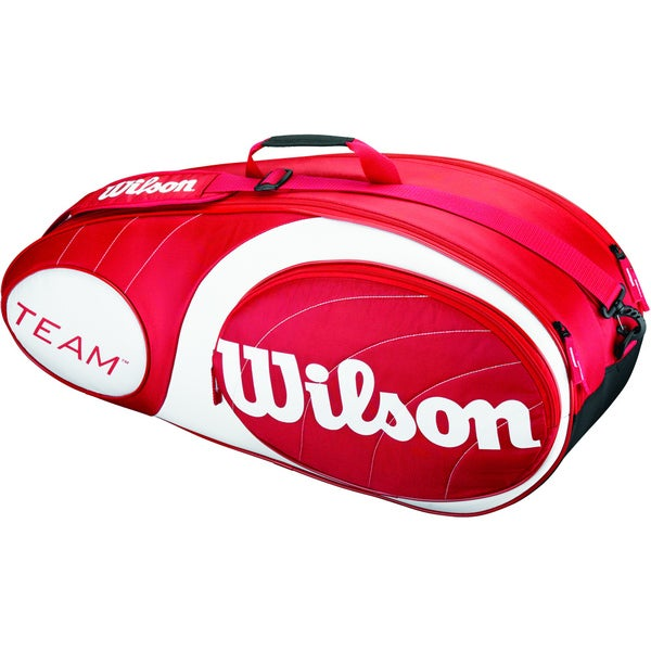 Wilson Team Red 6 Racquet Tennis Bag