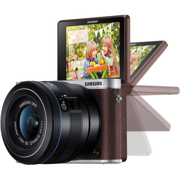 Samsung NX3000 Mirrorless Brown Digital Camera with 16-50mm Lens