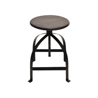 Christopher Knight Home Makrana Brown Adjustable Swivel Barstool