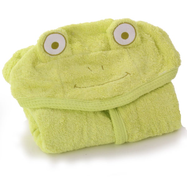 Minene Green Frog Cuddly Bath Towel for Baby
