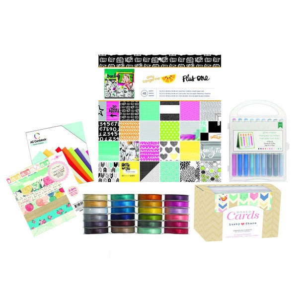 American Crafts Bright and Bold Starter Scrapbooking Pack