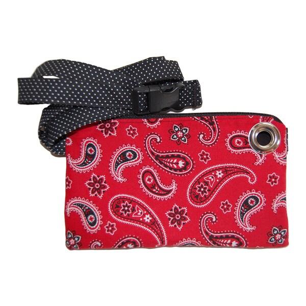 LillyMae Bags Red Bandana Waist Pack