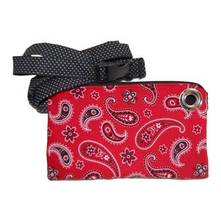 LillyMae Bags Red Bandana Waist Pack