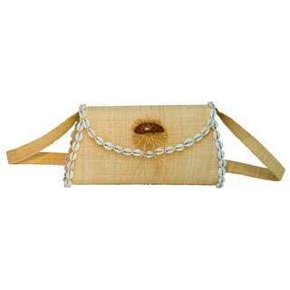 Rina Handmade Eco-friendly Raffia Shoulder Bag (Cameroon)