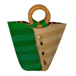 Milia Handmade Eco-friendly Raffia Tote Bag (Cameroon)