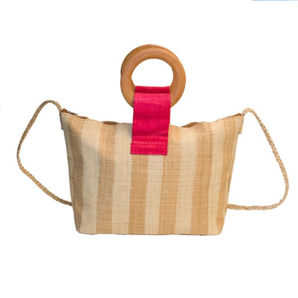 Nova Handmade Eco-friendly Raffia Cross-body Bag (Cameroon)