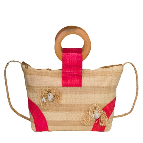 Lisa Handmade Eco-friendly Raffia Cross-body Bag (Cameroon)