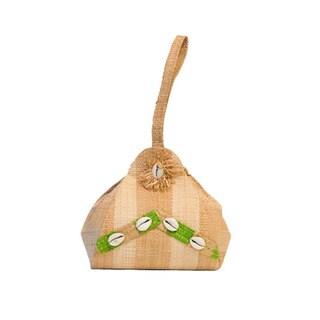Leila Handmade Eco-friendly Raffia Small Round Bag (Cameroon)