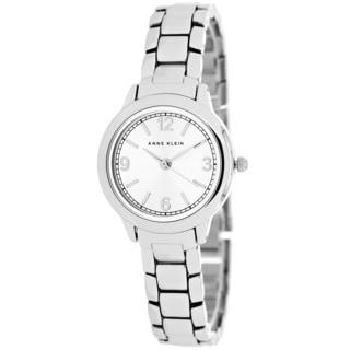 Anne Klein Women's AK-1793SVSV Classic Round Silvertone Bracelet Watch