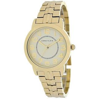 Anne Klein Women's AK-1790CHGB Classic Round Goldtone Bracelet Watch