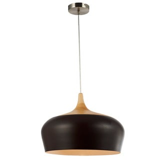 Legion Furniture Wood Dark Brown Ceiling Lamp