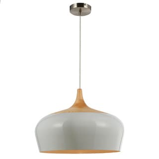 Legion Furniture White Wood Ceiling Lamp