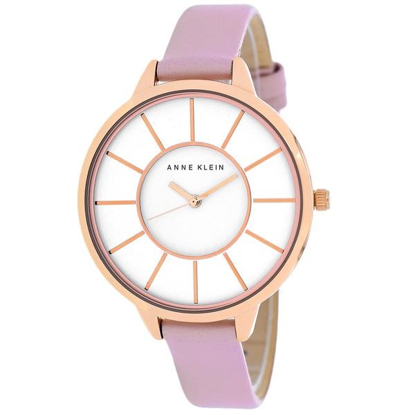 Anne Klein Women's AK-1500RGLP Classic Round Pink Strap Watch