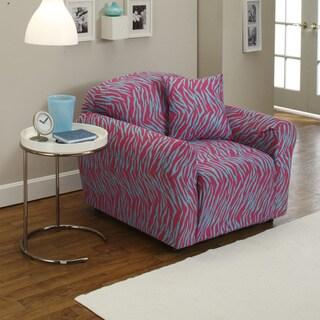 Stretch Jersey Zebra Chair Slipcover