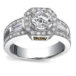 18k White Gold 1 5/8ct TDW Diamond Engagement Ring (I-J, I1-I2)