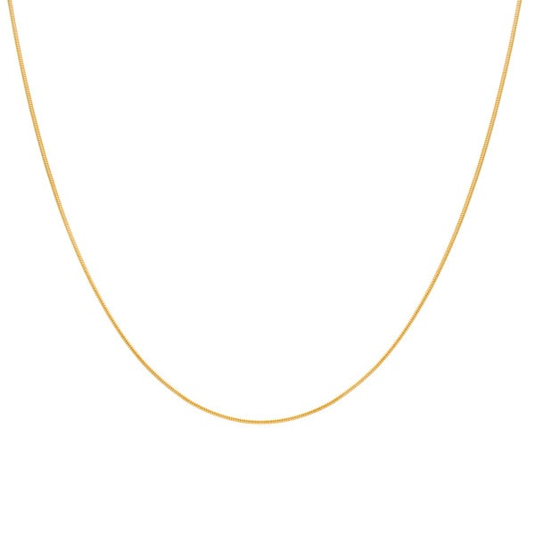Sterling Essentials Yellow Goldplated Silver Snake Chain (1 mm)