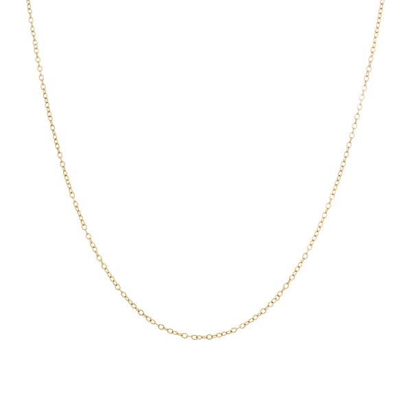 Sterling Essentials Yellow Goldplated Silver Pendant Chain Necklace (.50 mm)