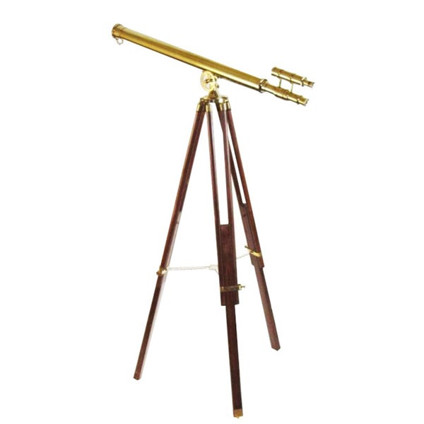 Double Barrel Brass Telescope