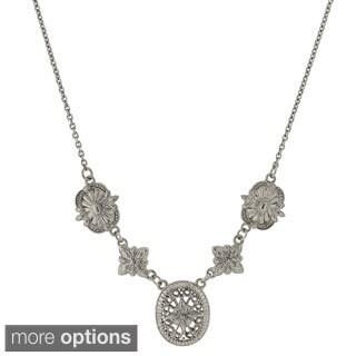 1928 Jewelry Filigree Tailored Necklace