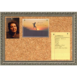 Parisian Silver 20 x 14 Small Message Cork Board