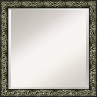 'Green Provencal Scroll Wall Mirror - Square' 23 x 23-inch