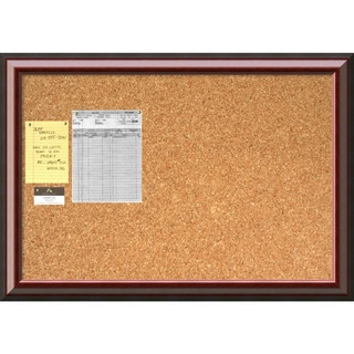 Cambridge Mahogany 40 x 28 Large Message Cork Boards