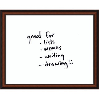 Bella Noce Glass 31 x 25 Medium Dry-Erase Message Board