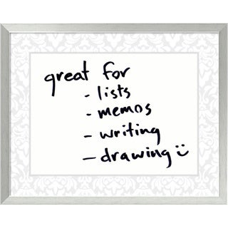 Soft Grey Damask 30 x 24 Medium Dry-Erase Message Board