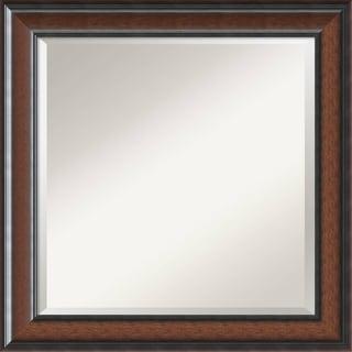 'Cyprus Walnut Wall Mirror - Square' 25 x 25-inch