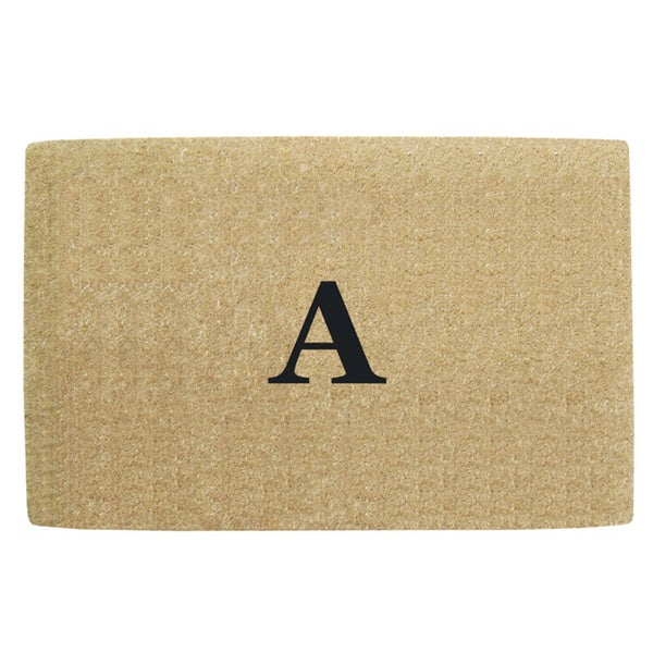 Heavy Duty Coir No Border Doormat - Monogrammed