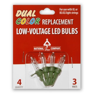 4 Low Voltage Dual LED Replacement Bulbs-Blister Pack