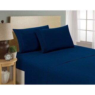 Hotel Luxury Deep Pocket Microfiber 4-piece Bed Sheet Set