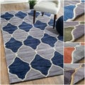 nuLOOM Hand-tufted Trellis Geometric Fancy Rug (5' x 8')