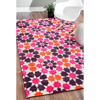 nuLOOM Modern Suzani Orange Rug (7'6 x 9'6)