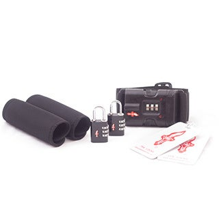 Safe Skies Black TSA Luggage Lock and Grip Set