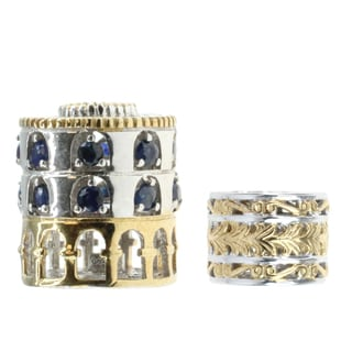 Michael Valitutti 'Coliseum' with Blue Sapphire and Two-Tone Bead Charm Set